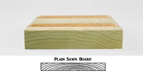 Plain sawn icon board